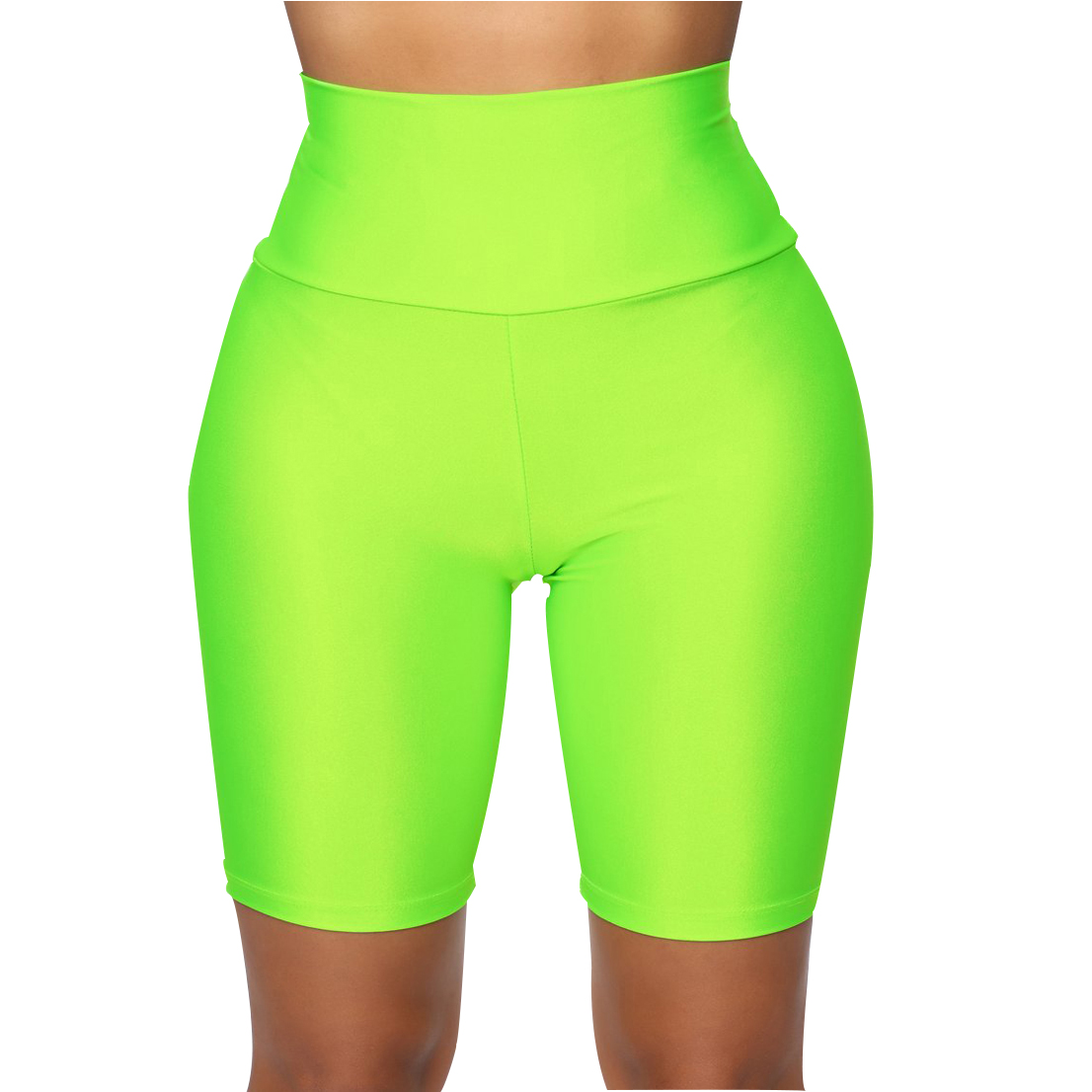 H58bbf430f2684324be45ad41d8bfdf8dN - Womens Plain Sports Gym Cycling Skinny Fit High Waist Shorts Lady Summer Casual Solid Basic Stretchy Bodycon Short Pants