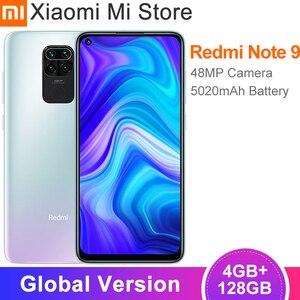 Глобальная версия смартфона Xiaomi Redmi Note 9, 4 Гб ОЗУ 128 Гб ПЗУ, Восьмиядерный процессор MTK Helio G85, камера заднего вида 48 МП, 5020 мАч