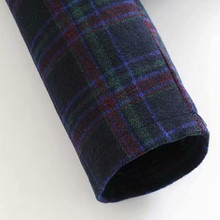 houndstooth wool plaid Crop Coat Jacket PU27