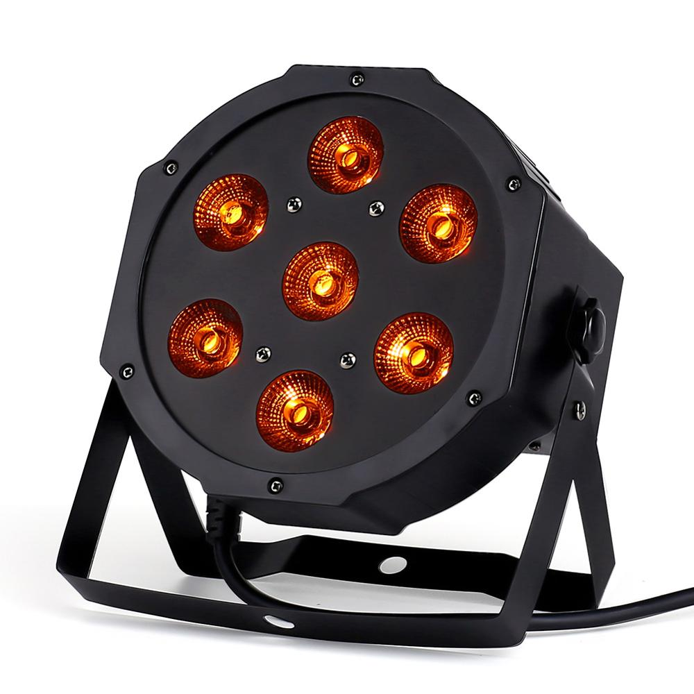 7x18W LED Flat SlimPar RGBWA UV  Light 6in1 LED DJ Wash Light Stage Dmx Light  Stage Lighting 6/10 Channes