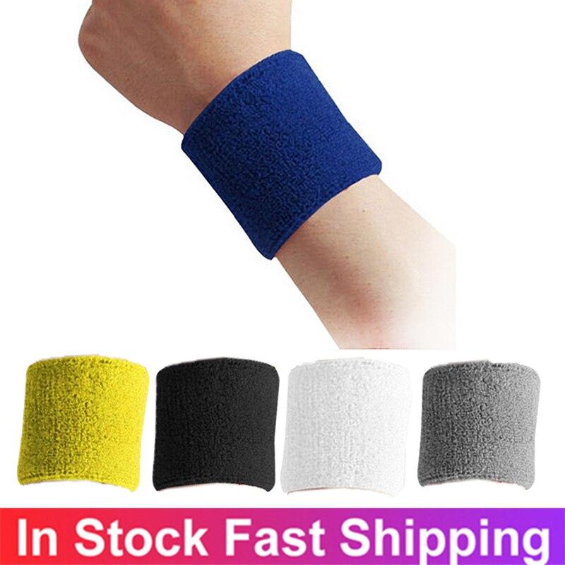 Воздухопроницаемый пот, хлопковый эластичный браслет для поддержки запястья, теннисные браслеты, спортивный фитнес-браслет для пота, спорт...