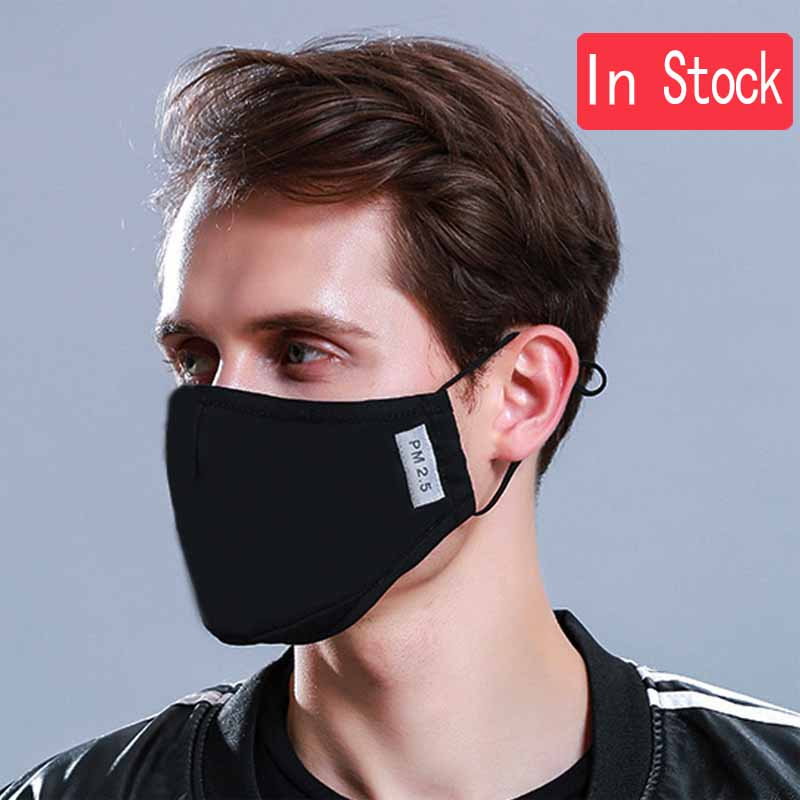 * Fashion Cotton PM2.5 Anti haze smog mouth Dust Mask + * Activated carbon filter paper * bacteria proof Flu Face Mask Reusable