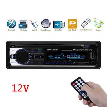 MP3 Car Radio Stereo Bluetooth JSD520 In-dash 1 Din FM Aux Input Receiver SD USB ISO Connector Autoradio Oto Teypleri image