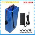 500 Вт 36В тормозной 20AH  фара для электровелосипеда в батарея 1000 Вт 36 вольт 30ah лития ионный 18650 аккумуляторная батарея для зарядки Ноута и сотов...