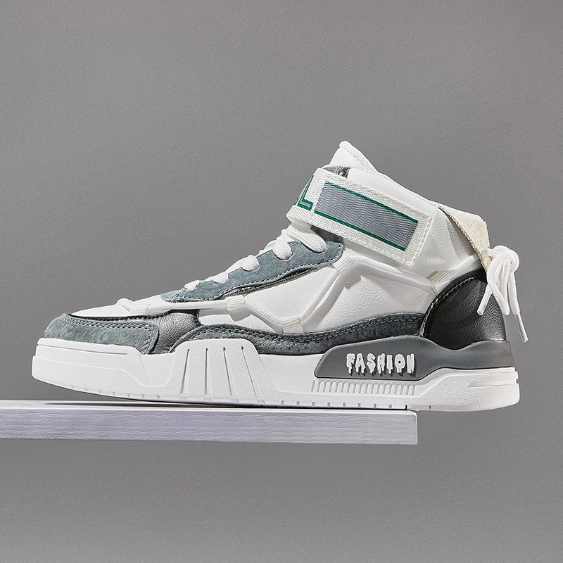 Fashion Leather Sneakers Men Mid
