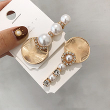 New Fashion Women Pearl Hair Clip Barrette Beautiful Hairpins Crystal Elegant Hairpin