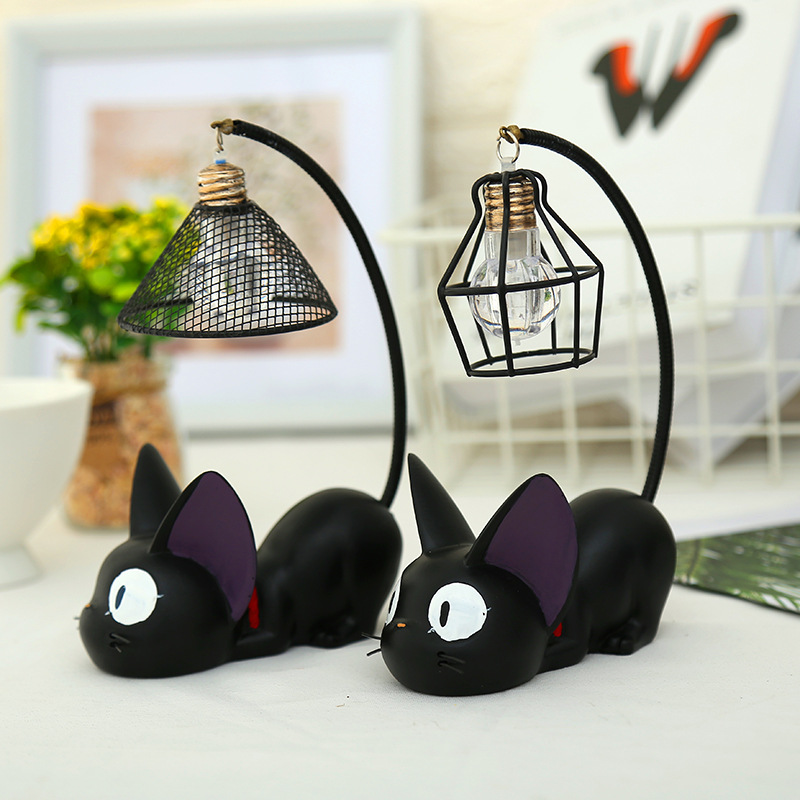 LED Night Light JiJi Cats Toy Lamp For Child Led Desk Home Decoration Kids Cartoon Room