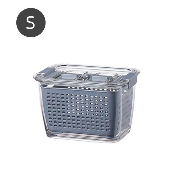 Multifunctional Storage Box Kitchen Refrigerator Fresh-Keeping Box Plastic Vegetable Fruit Drain Basket Storage Basket Container