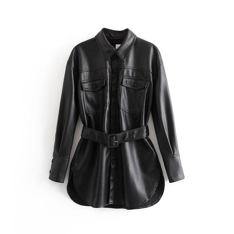 Новое зимнее Wf80 3002 модное пальто из искусственной кожи в европейском и американском стиле|Базовые куртки| | - AliExpress