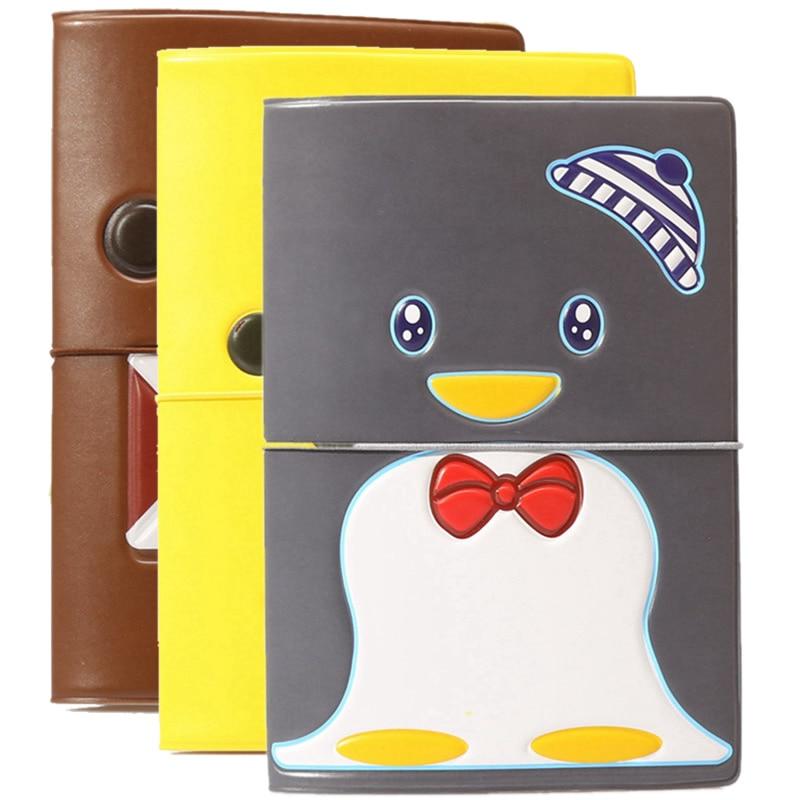 Cartoon Animal Penguin Passport Cover Holder Wallet Bag Travel Accessories Men PU Leather ID Address Portable Boarding Card Case