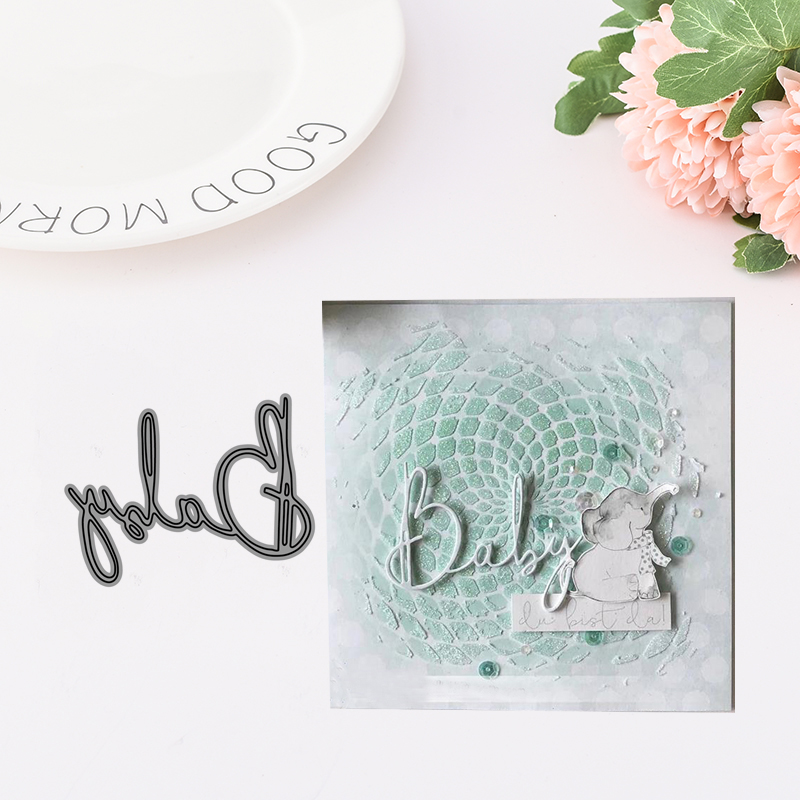 2019 Metal Cutting Dies for Scrapbooking Baby Letters Words Dies Cut Stencil Handmade Paper Card Making Model Decoration Craft in Cutting Dies from Home Garden