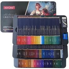 NYONI 100 Color Pencil Art Professional Color Pencil Artist Crayon Sketch Pencil