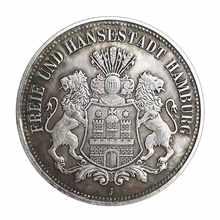 Double Lion et aigle de l'allemagne, pièces commémoratives étrangères européennes, argent, dollar Antique, colle, 1896
