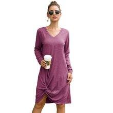 Женское Повседневное платье неправильной формы 2020 осень зима