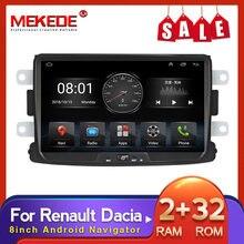 MEKEDE 2din Android Auto Radio 8'' Autoradio Multimedia Player GPS Mirrorlink Stereo Empfänger Für Renault Duster/Logan/Dokker