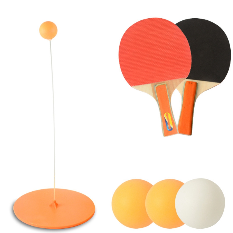 Super Sell-Children's Table Tennis Trainer Toy Elastic Soft Shaft Single Double Pair Exercise Sports Equipment