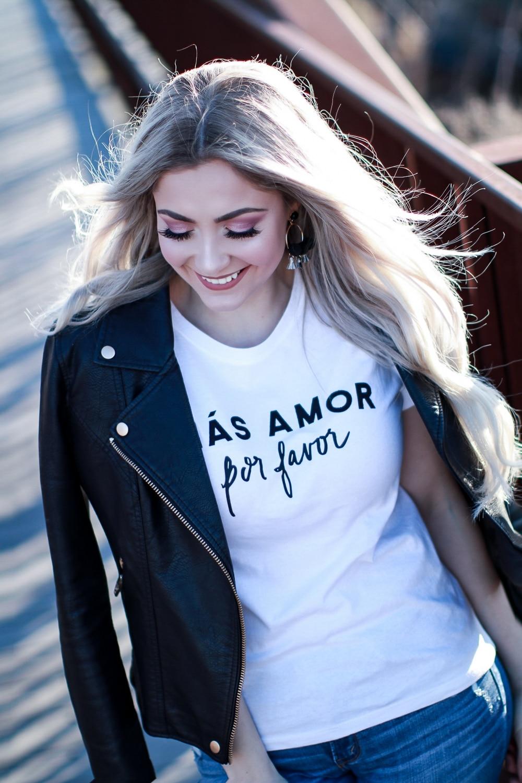 Mas Amor Por Favor Women tshirt Casual t shirt For Lady Yong Girl Top Tee Hipster Drop Ship