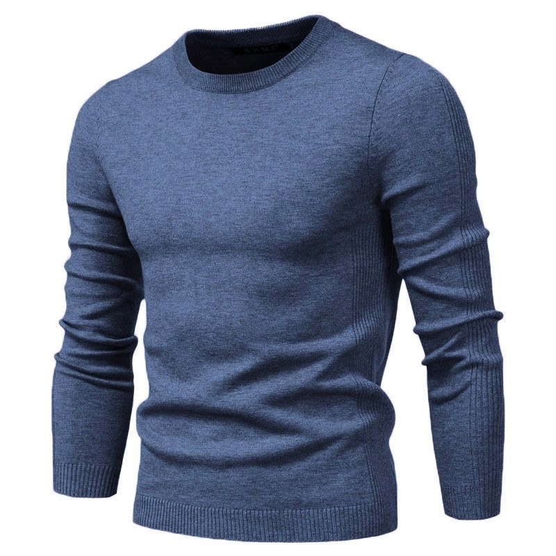 2020 New O neck Pullover Men's Sweater Casual Solid Color Warm Sweater Men Winter Fashion Slim Mens Sweaters 11 Colors