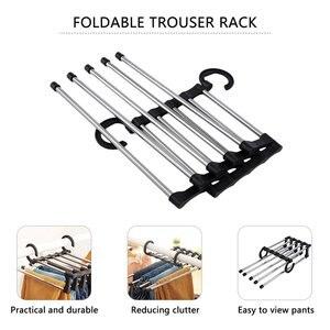Novelty Adjustable Trouser Pants Tie Shawl Rack Belt Scarf Neckties Hanger Holder Multifunctional Closet Organizer