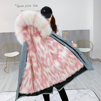 Fashion Thick Winter Overcome Women's Winter Coat 2019 New Family Clothes Mum and Daughter Fur Jacket Removable Fur Liner Parkas