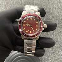 Retro 1960 39.5mm Men's Watch antique Acrylic Table Mirror Stainless Steel Case Luminous Retro Watch Vintage mens watch 2