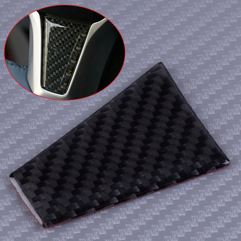 DWCX Carbon Fiber Black Style ABS Car Steering Wheel Cover Trim Panel Styling Fit For Tesla Model X S image
