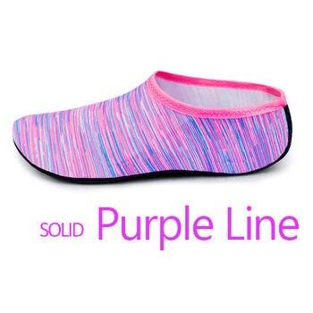 Purple lines sock