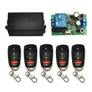Image 5 - Interruptor inalámbrico de 433 MHz, CA de 110V, 220V, 1CH, TRANSMISOR DE RF, Control remoto, receptor de relé RF para abridor de puerta de garaje ligero