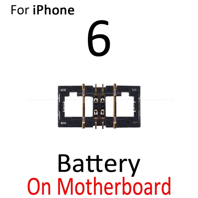 2 шт. внутренний FPC Разъем Держатель батареи зажим контакт для iPhone 5 5S SE 5C 6 6S Plus на материнской плате логика основной платы гибкий кабель