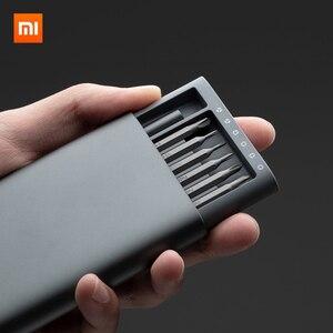 Image 4 - Mới Có Hàng Xiaomi Mijia Sử Dụng Hàng Ngày Vít Lái Xe Bộ 24 Độ Chính Xác Đầu Nam Châm Alluminum Hộp Wiha DIY Vít người Lái Xe Bộ