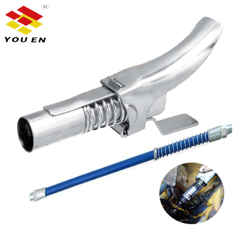 YOUEN Grease Coupler Quick Release Lock Clamp Coupler NPTI/8 10000PSI High Pressure Grease Nipple Self-Locking Two Press