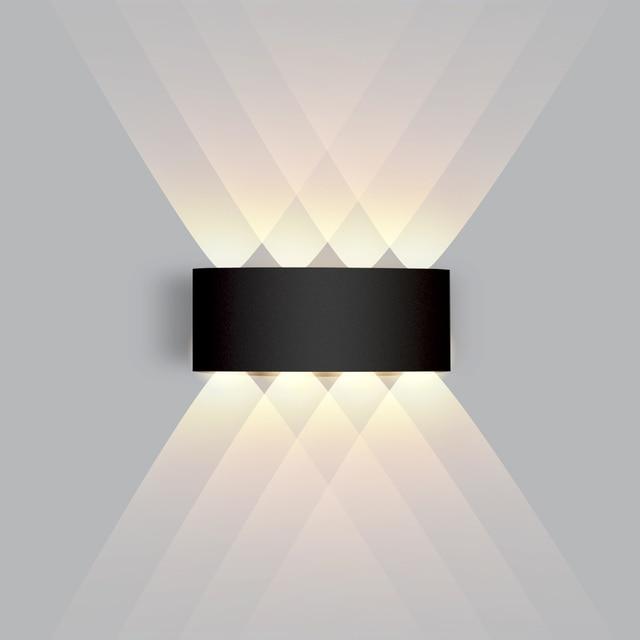 IP65 LED Wall Lamp Outdoor Waterproof Garden Lighting  Aluminum AC86-265 Indoor Bedroom Living Room Stairs Wall Light