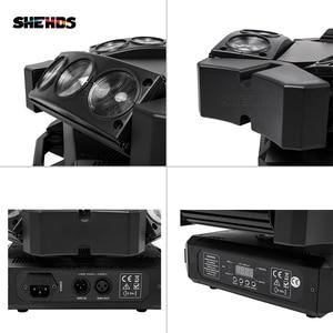 Image 5 - 새로운 도착 미니 LED 9x10W LED 스파이더 라이트 RGBW 16/48CH DMX 무대 조명 Dj LED 스파이더 이동 헤드 빔 빛