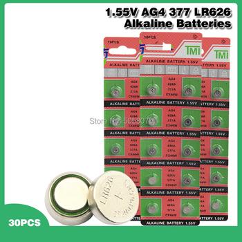 30 sztuk paczka AG4 LR626 377 baterie guzikowe SR626 177 komórki monety baterii alkalicznej 1 55V 626A 377A CX66W dla zegarek zabawki #8230 tanie i dobre opinie ANLB CN (pochodzenie) 10mAh 6 8*2 6mm Alkaline Batteries AG4 377 LR626 -40 to +60 degree Celsius China (Mainland) Watches toys electronics