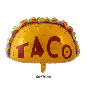 Image 5 - Meksykańskie balony na imprezę dekoracje świąteczne dostawy Party TACO około miłość Party Fiesta kaktus hel balony foliowe TacoTwosday