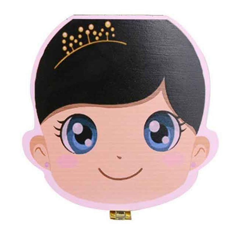 Hot-New Kids Girl Tooth Box Organizer For Baby Save Milk Teeth Wood Storage Box