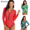 Zipper Long Sleeved Sport Swimsuit 1