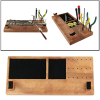 Wooden Craft Tool Box w/ Compartments Cabinet for Storage Tool Saxophone Flute Clarinet Instrumental Repair Tool Organizing