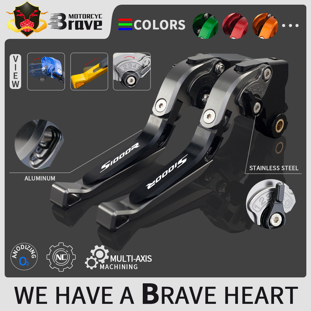 For <font><b>BMW</b></font> <font><b>S1000R</b></font> S1000RR 2015 2016 2017 <font><b>2018</b></font> 2019 S 1000R 1000RR Motorcycle Accessories Folding Extendable Brake Clutch Levers image