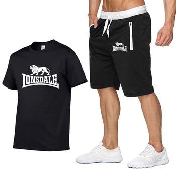 Tee Tops Summer 100% Cotton Funny T Shirts Short Sleeves T-Shirt Men Fashion Brand LONSDALE Print Women's and Men's T-shirt цена 2017