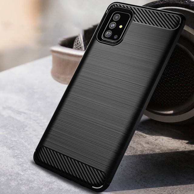 Carbon Fiber Case For Samsung Galaxy A70 A71 A750 Brushed Silicone Back Cover For Samsung A51 A50 A6 A8 J4 J6 A9 2018 Phone Case