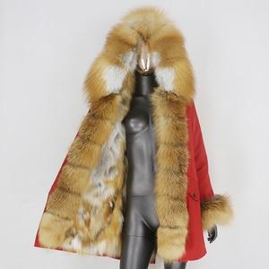 BLUENESSFAIR 2020 Waterproof Parka Winter Jacket Women Real Fur Coat Natural Raccoon Fox Fur Collar Outerwear Warm Streetwear