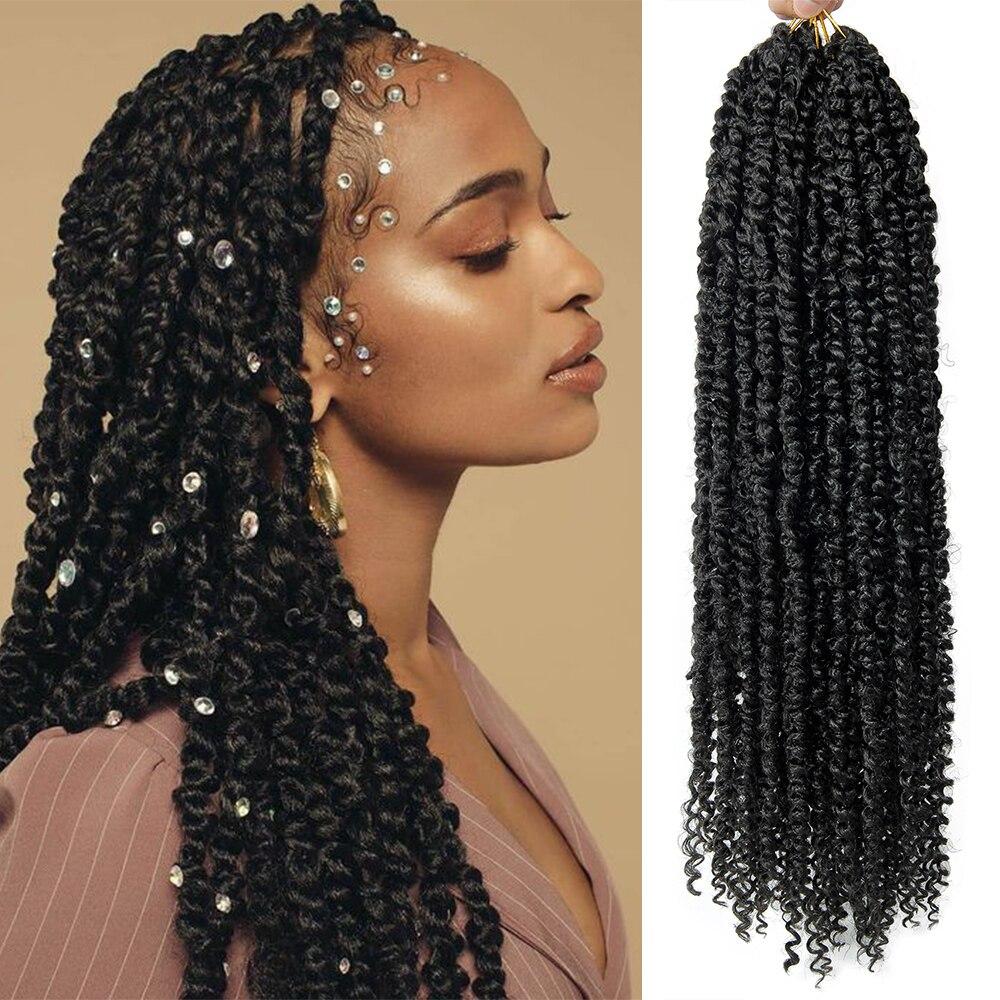 Синтетические косички, волосы предварительно витой страсть твист накладные волосы на крючке, 22 дюйма эффектом деграде (переход от темного к...