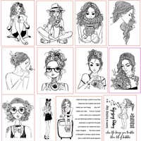 Fashion Girls Quiet Sexy Lively Clear Silicone Stamps Scrapbooking Craft Decorate Photo Album Embossing Cards Clear Stamps New