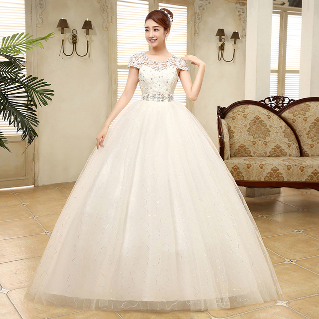 High Waist Wedding Dress New Bride Pregnant Woman Wedding Dresses Ball Gowns Lace Up Brial Plus Size Dresses