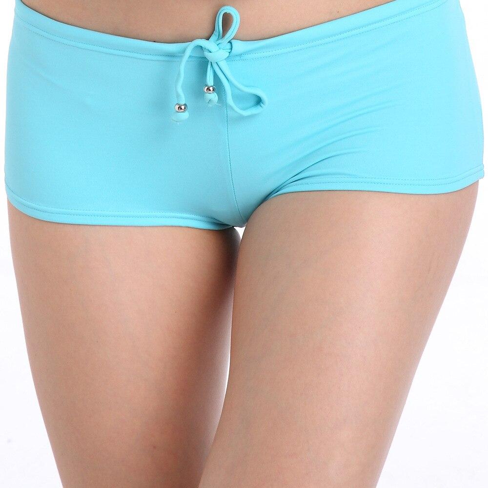 Comfortable Nylon Bikini Bottom Drawstring Swim Briefs for Girls Fully Lined Female Swimwear Swim Bathing Trunk Dropshipping