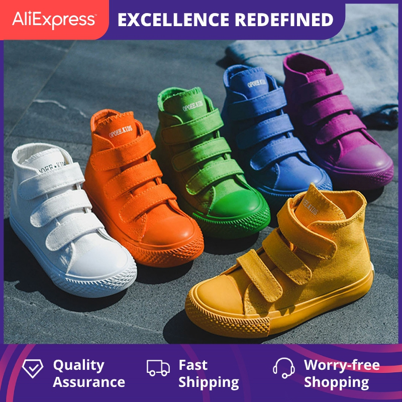 Children Canvas Shoes Girls Sneakers High Top Boys Shoes 2021 New Spring Autumn Fashion Sneakers Kids Casual Shoes Footwear