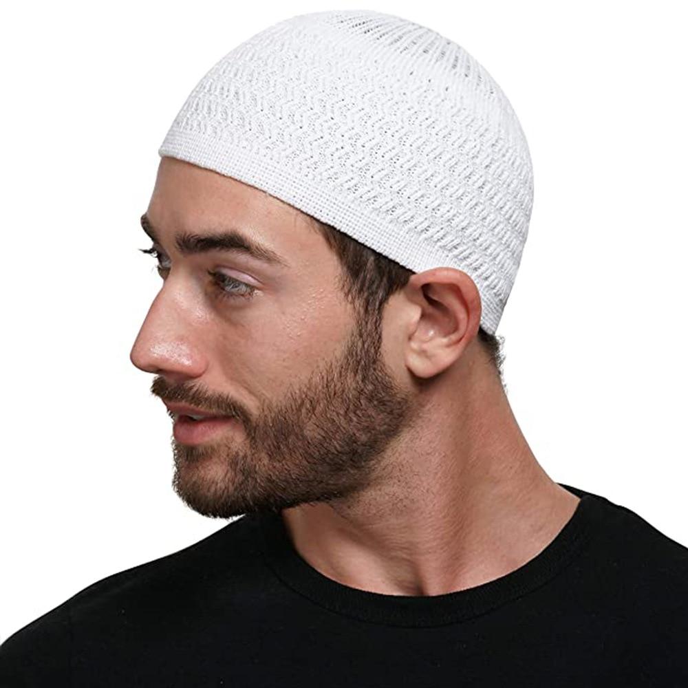 Зимние вязаные мусульманские молитвенные шапки, теплые мужские шапки, шапка, исламский Рамадан, Еврейская Кипа, мужская шапка, мужская шапк...