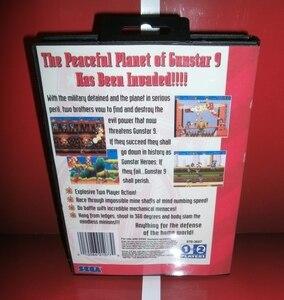 Image 2 - Mdゲームカード gunstarヒーロー米国カバーボックスとマニュアルセガメガジェネシスビデオゲームコンソール 16 ビットmdカード