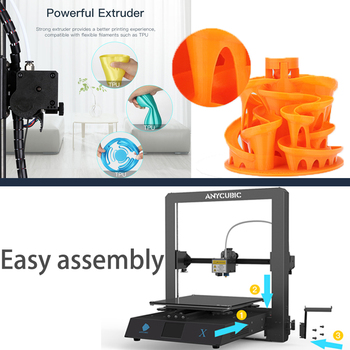 Anycubic Mega-X Mega Series 300*300*305mm 3D Printer Large Printing Size Meanwell Power Supply Ultrabase 3d Impressora 2